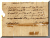 Letter requesting fire wood, written in 1792 - click for larger view
