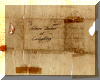 Addressee side of letter for fire wood, dated 1792 - click for larger view