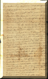 Page 1 of a letter written in 1791 - click for larger veiw