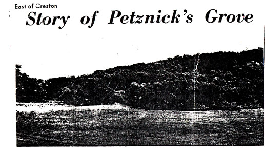 Petznick's Grove - East of Creston, Union County, Iowa